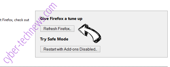 Cloud1.pw pop-up ads Firefox reset
