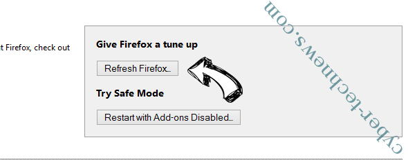 Search.parazipper.com Firefox reset