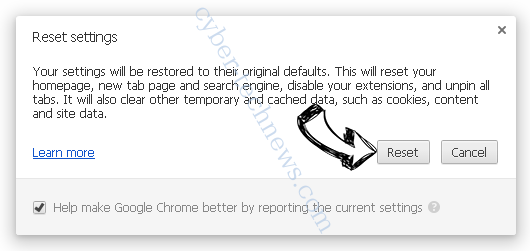 Search.genieo.com Chrome reset