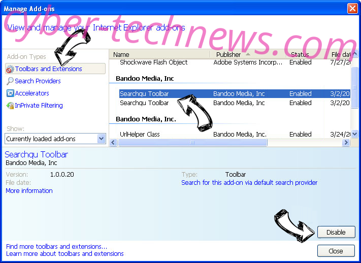 Toponclick.com IE toolbars and extensions