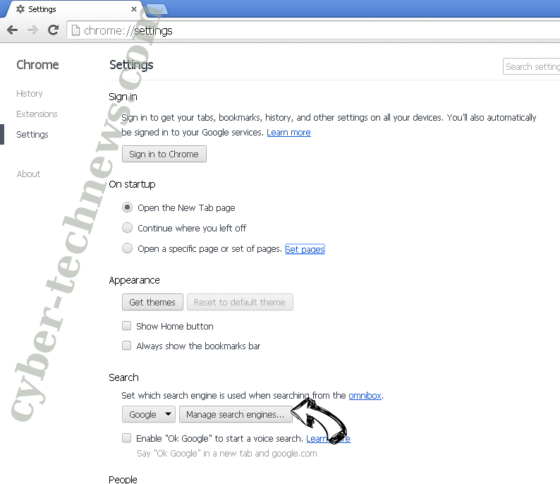 Trustednotice.news Chrome extensions disable