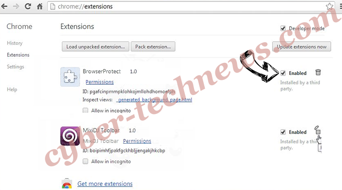 Offers.wildbearads.bid Chrome extensions disable