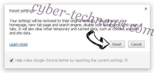 Arp.bettersearchtools.com Chrome reset