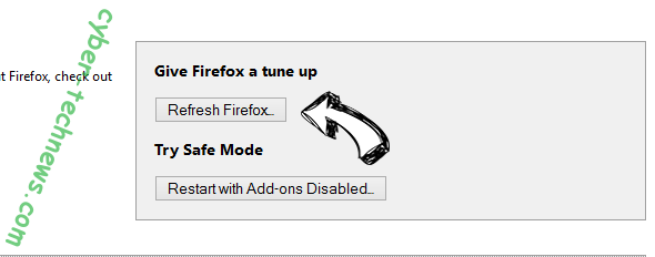 Search.pensirot.com Firefox reset
