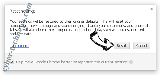 Ultimatesearchweb.com Chrome reset