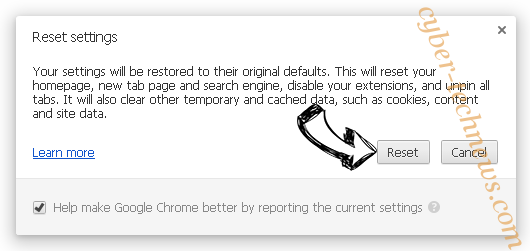 Additionalsearch.co.uk Chrome reset