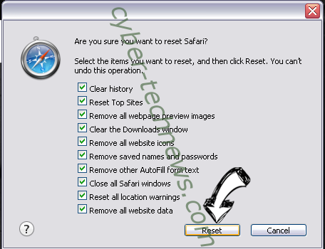 Newtab.today virus Safari reset