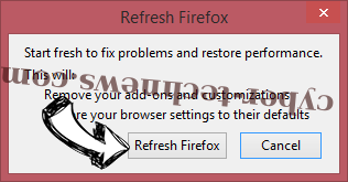 Search.webfinderresults.com Firefox reset confirm