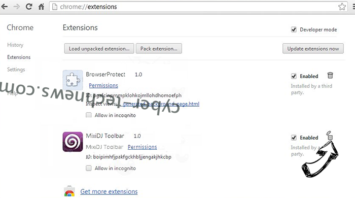 Linkey Search Virus Chrome extensions remove