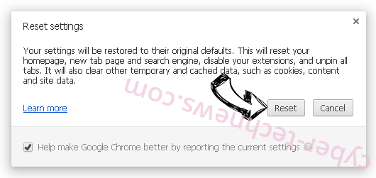 Search.anysearchresults.com Chrome reset