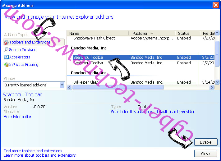 Linkey Search Virus IE toolbars and extensions