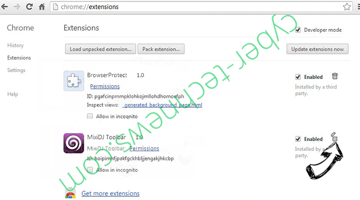 RinoReader Adware Chrome extensions remove
