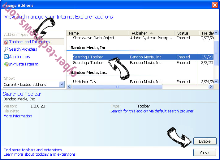 RinoReader Adware IE toolbars and extensions