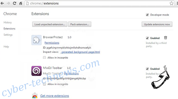 Internet Security Alert virus Chrome extensions remove