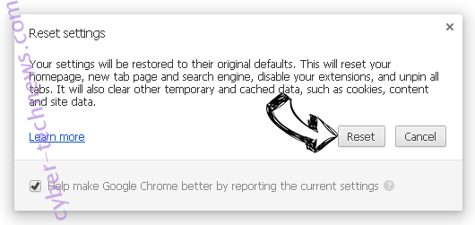 Search.terrificshoper.com Chrome reset
