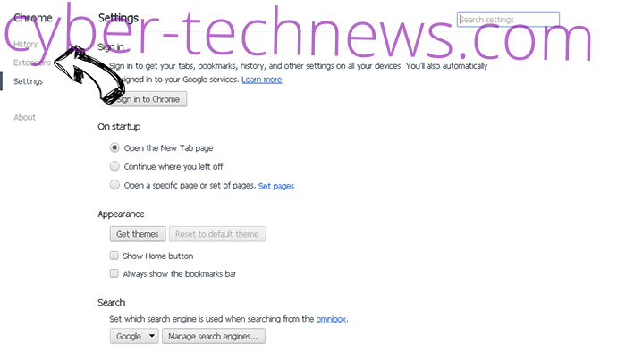 TaxCenterNow Toolbar Chrome settings