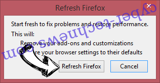 Internet Security Alert virus Firefox reset confirm