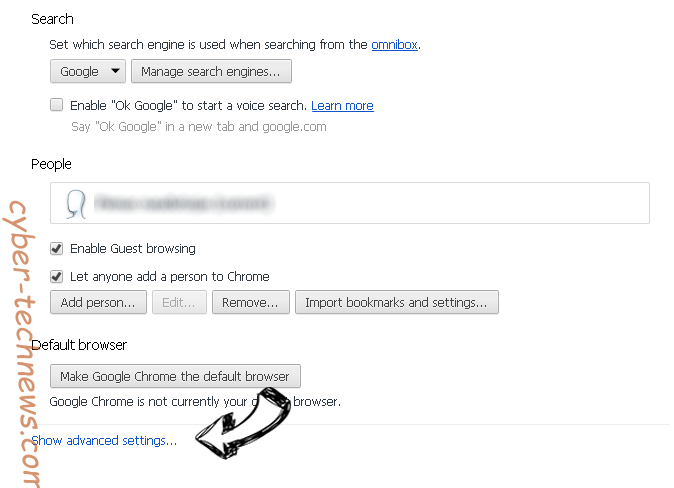 SpecialReply.com Chrome settings more