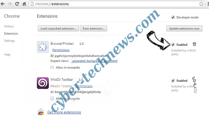 En.uc123.com Chrome extensions disable
