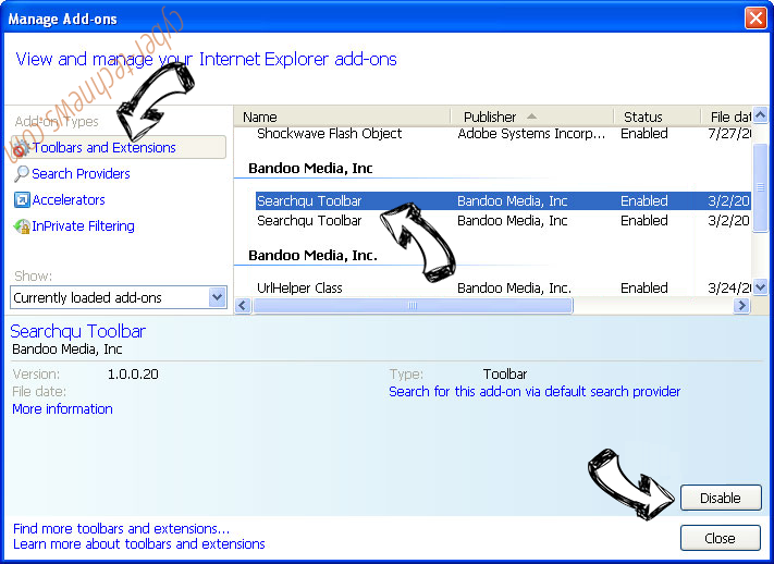 search.stormygreatz.com IE toolbars and extensions