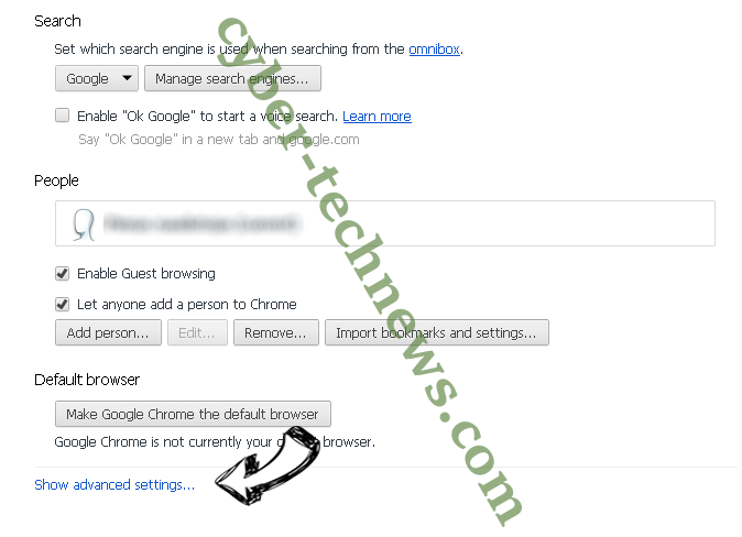Search.coolmediatabsearch.com Chrome settings more