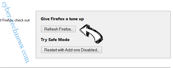 Realpush.media virus Firefox reset