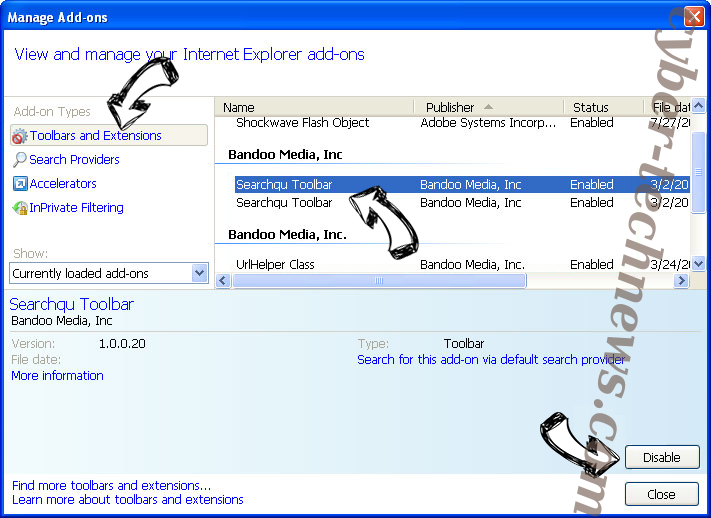 Search.hmyflightfinder.net IE toolbars and extensions