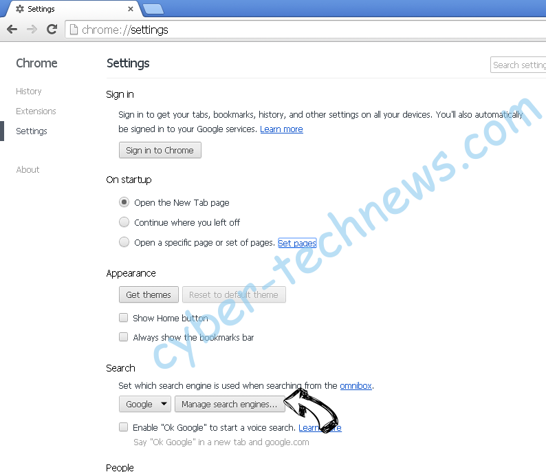 Bestsearch.live Chrome extensions disable