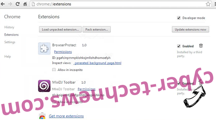 Wallet Protector Adware Chrome extensions remove