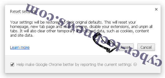 ChromeWebStore extension Chrome reset