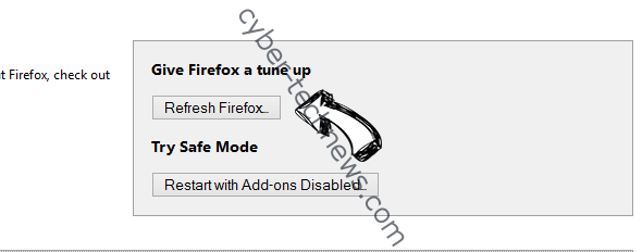 VideoNet Search Firefox reset