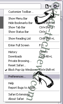 Wallet Protector Adware Safari menu