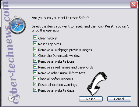 Search.easymapsaccess.com Safari reset