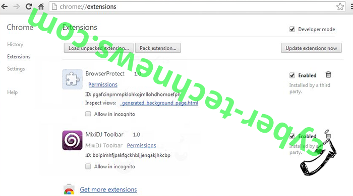 Beonline.pw Chrome extensions remove