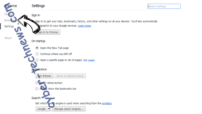 Free.everydaylookup.com Chrome settings