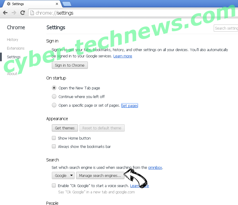 Lifesearch16.club Chrome extensions disable