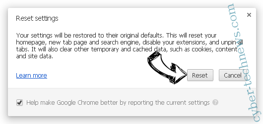 SearchGrape.com Chrome reset