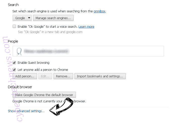 Searchers13.club Chrome settings more
