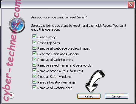 SearchGrape.com Safari reset