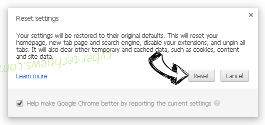 Search.hfindmyroute.co Chrome reset