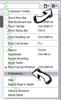 Gsafe.getawesome3.com Safari menu