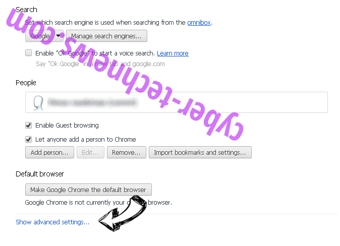 Amousinded.info Chrome settings more