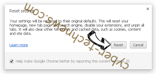 Strialdeather.info Chrome reset