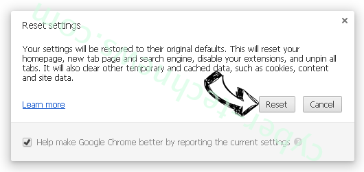 Dissonbegant.info Chrome reset