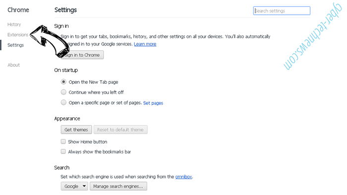 Tab.chill-tab.com Chrome settings