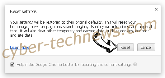 Search Defender Prime redirect Chrome reset