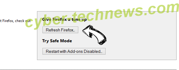 Search Defender Prime redirect Firefox reset