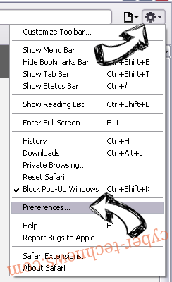 Reclick.club virus Safari menu