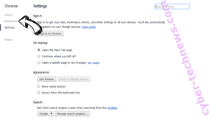 Feed.brillianttab.com Chrome settings