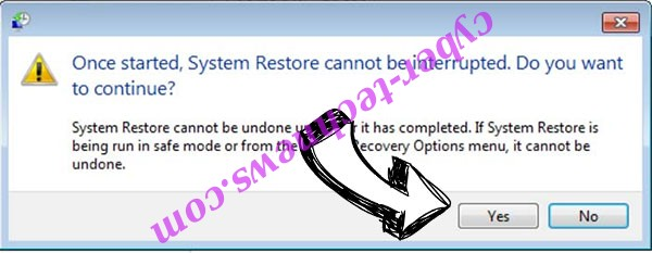 .Calum files ransomware removal - restore message